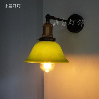 比高復古懷舊客廳餐廳咖啡廳過道樓梯走廊臥室床頭老上海民國玻璃壁燈