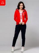 Kappa女帽衫卫衣运动服休闲上衣运动外套 女子防风开衫|