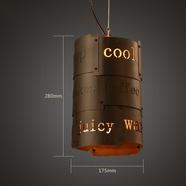 loft复古工业风创意个性灯具铁艺餐厅酒吧吧台单头咖啡厅吊灯