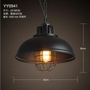 北欧工业风复古铁艺吊灯餐厅灯loft简约咖啡厅吧台过道锅盖罗伯斯吊灯