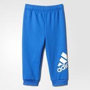 adidas 阿迪达斯 训练 男婴童 针织长裤 蓝 AY6003