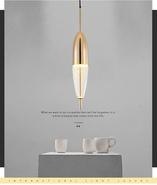 Nordic творческая люстра пост современный минималистский капли стеклянный светильник