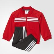adidas 阿迪达斯 训练 男婴童 针织套装 鲜红/石墨黑 AY6054
