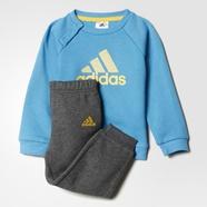 adidas 阿迪达斯 训练 男婴童 针织套装 工艺蓝/深麻灰 AY6025