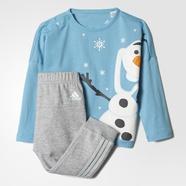 adidas 阿迪达斯 训练 女婴童 针织套装 蒸汽蓝/中麻灰 AY6049