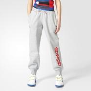 adidas 阿迪达斯 训练 女大童 针织长裤 中麻灰 AY8333