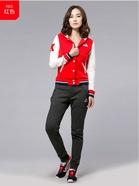 Kappa 运动服女卫衣 休闲开衫上衣运动外套 棒球服帽衫|