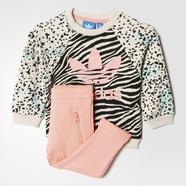adidas 阿迪达斯 三叶草 女婴童 运动套装 多色 AY8556