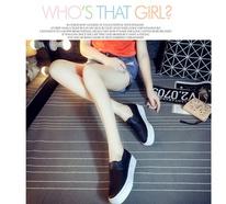 夏季厚底内增高皮面鞋一脚蹬松糕鞋纯色简约小白鞋低帮PU乐福鞋