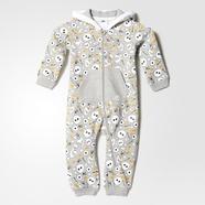 adidas 阿迪达斯 训练 男婴童 针织套装 中麻灰 AY6043