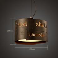 LOFT创意个性吧台网咖吊灯咖啡厅酒吧餐厅复古工业风铁艺字母做旧灯具
