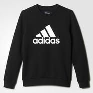 adidas 阿迪达斯 训练 男大童 套头卫衣 黑 AY8214