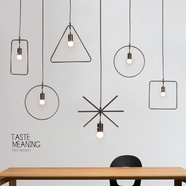 宜家个性铁艺吊灯创意LED客厅餐厅卧室书房吧台橱窗艺术吊灯